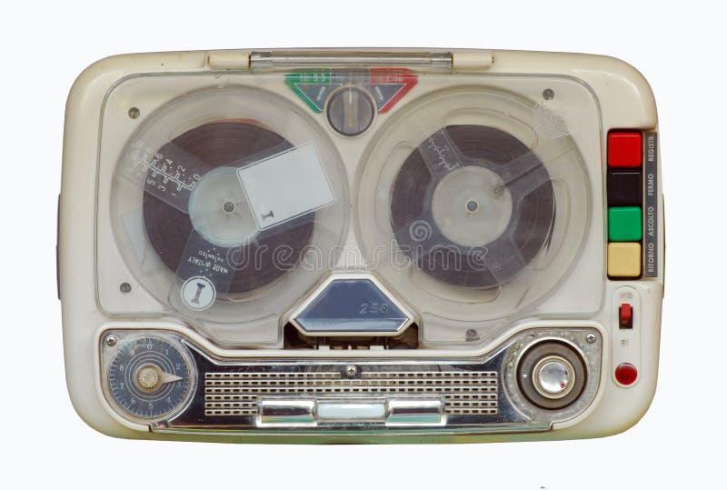 Sujetar con cinta adhesiva-registrador retro, viejo foto de archivo libre de regalías