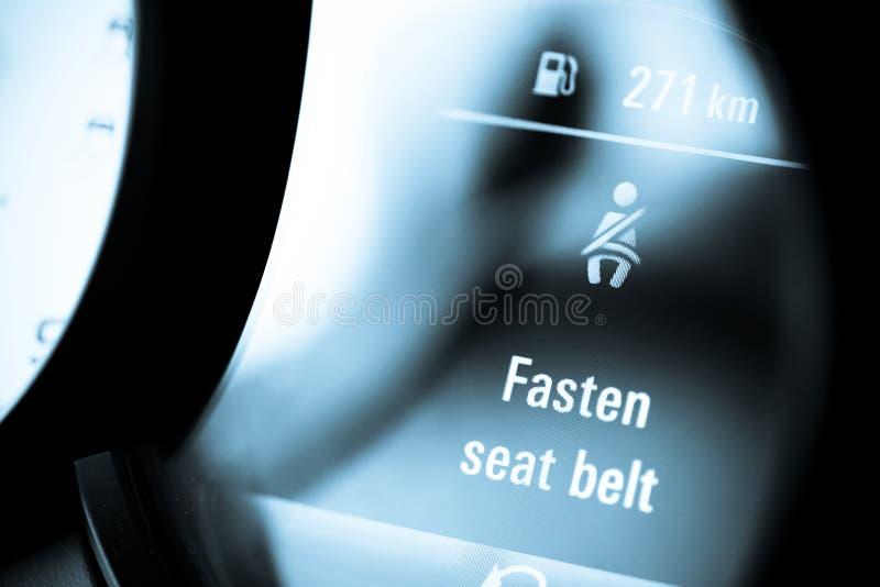 Sujete su cinturón de seguridad foto de archivo