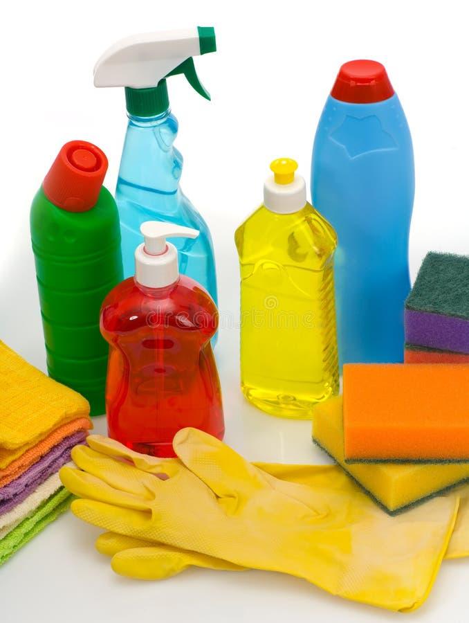 Sujets pour le nettoyage sanitaire une maison photo libre de droits