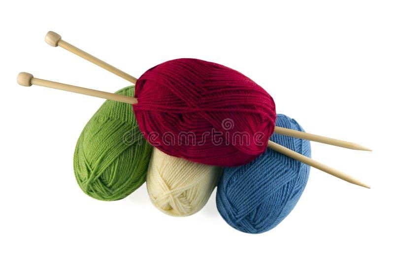 Sujets pour le tricotage photographie stock libre de droits