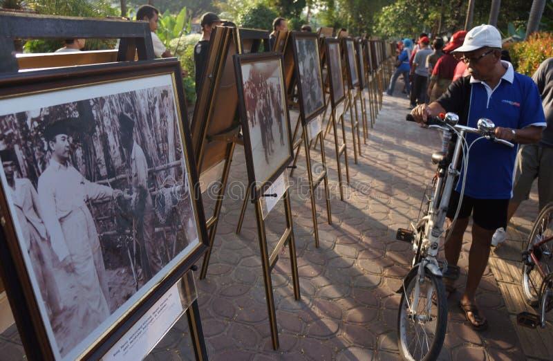 Sukarno fotografii wystawa zdjęcia royalty free