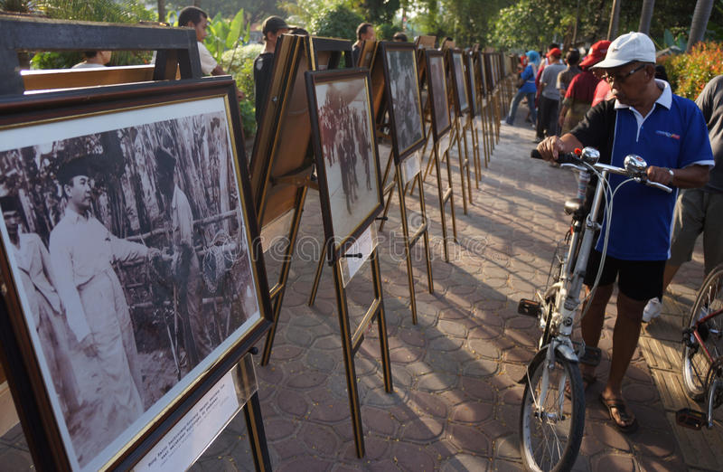 Sukarno photo exhibition royalty free stock photos