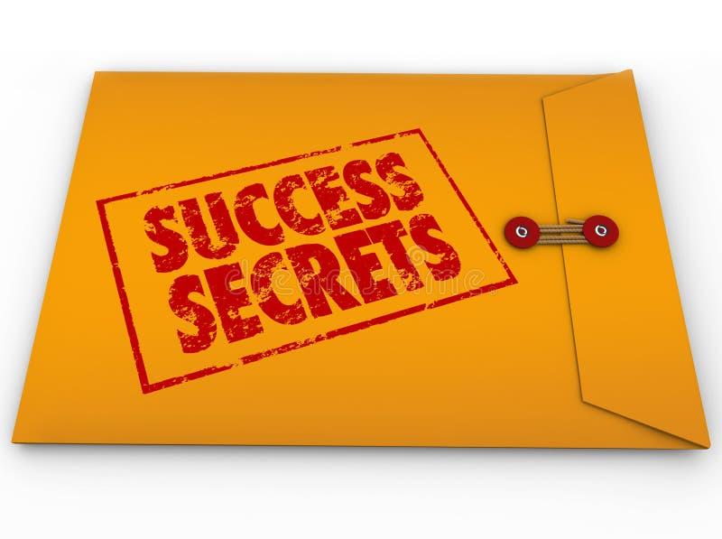 Sukcesów sekrety Wygrywa informacja Klasyfikującą kopertę royalty ilustracja