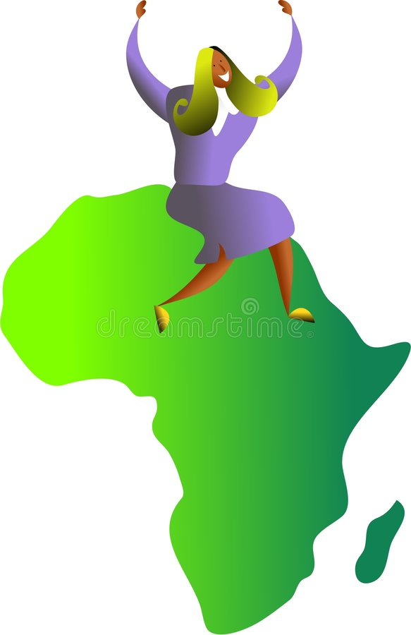 sukces afrykańskiej ilustracja wektor