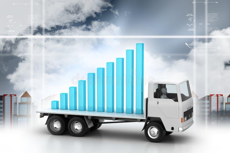 Sukces folujący wykres na ciężarówce ilustracji