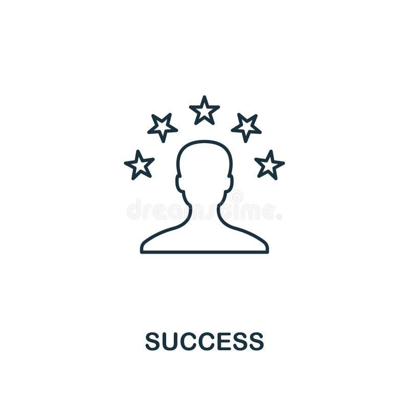 Sukces ikona Konturu stylu cienki projekt od biznesowych ikon inkasowych Piksel doskonalić prosta piktograma sukcesu ikona dla ilustracja wektor