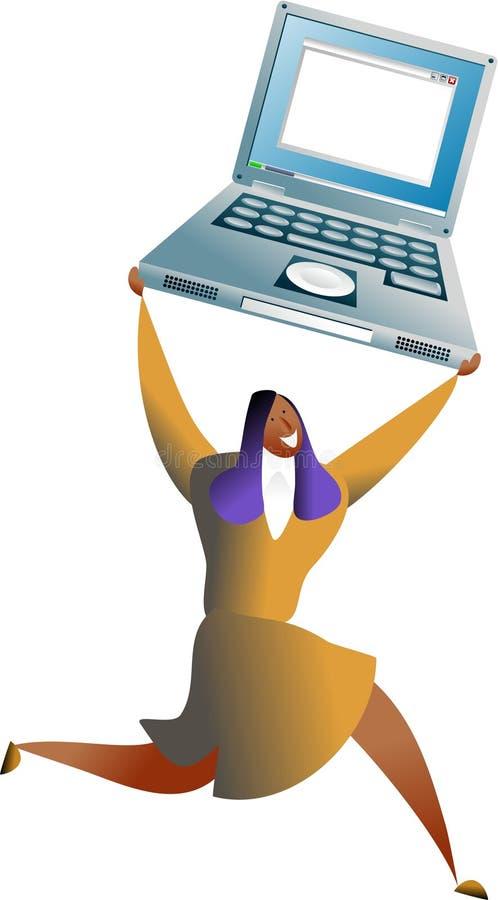 sukces komputerowy royalty ilustracja