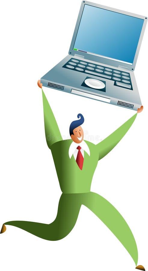 sukces komputerowy ilustracja wektor