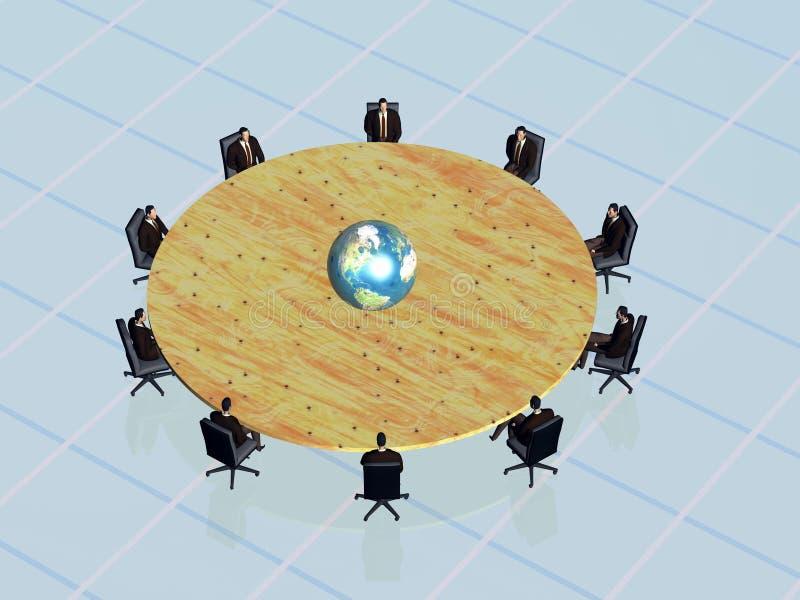 sukces konferencji drużyny szeroki świat ilustracji