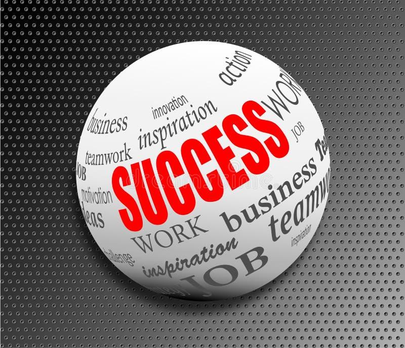 Sukces motywaci piłki biznesowa abstrakcjonistyczna sfera  ilustracji