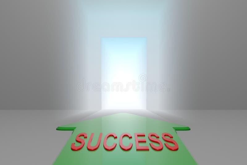 Sukces otwarta brama ilustracji