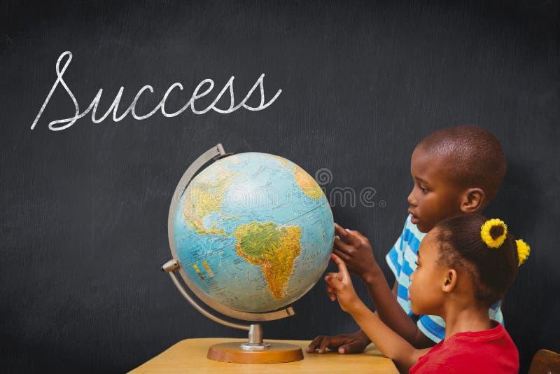 Sukces przeciw blackboard zdjęcie stock