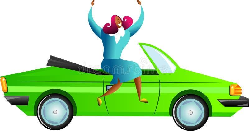 sukces samochodowy ilustracji