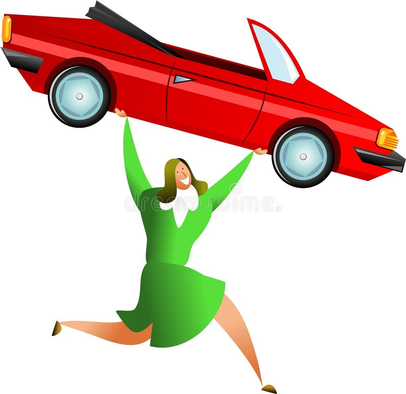 sukces samochodowy royalty ilustracja