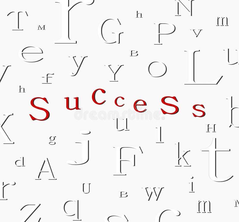 sukces tła alfabet ilustracja wektor