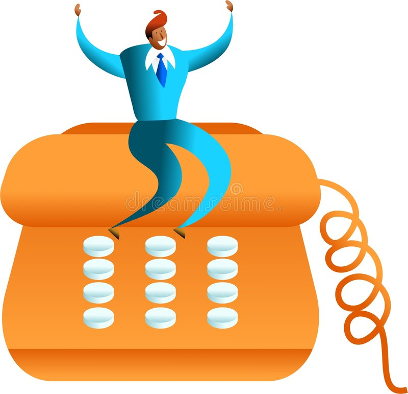 sukces telefon ilustracja wektor