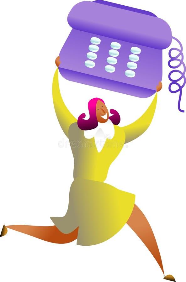 sukces telefon royalty ilustracja