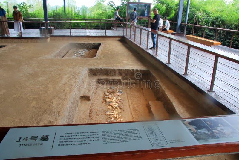 Sukces w poparciu, Chiny liangzhu antycznego miasta miejsca na światowe dziedzictwo liście pozwoli fotografia royalty free