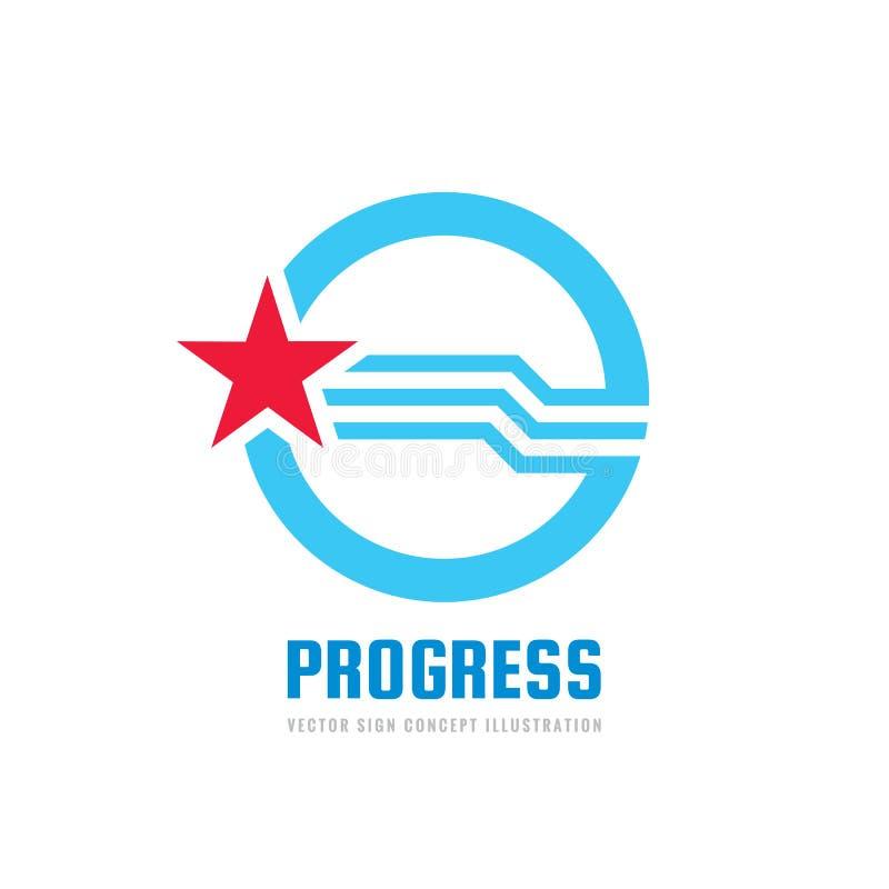 Sukces - wektorowa loga szablonu pojęcia ilustracja Postępu abstrakta kreatywnie znak Przyrosta i uruchomienia symbol nagroda zwy ilustracja wektor