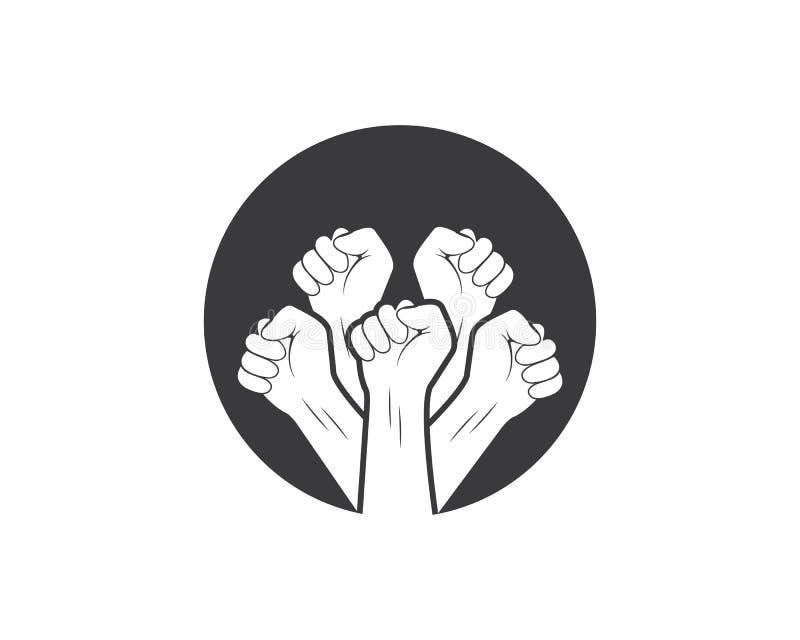 sukces, więzi ręki ikony logo wektor royalty ilustracja