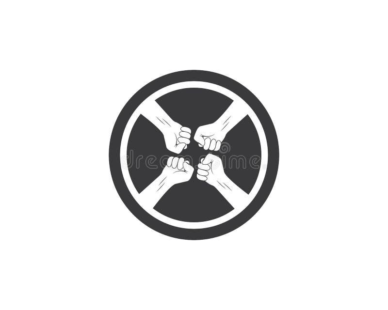 sukces, więzi ręki ikony logo wektor ilustracja wektor