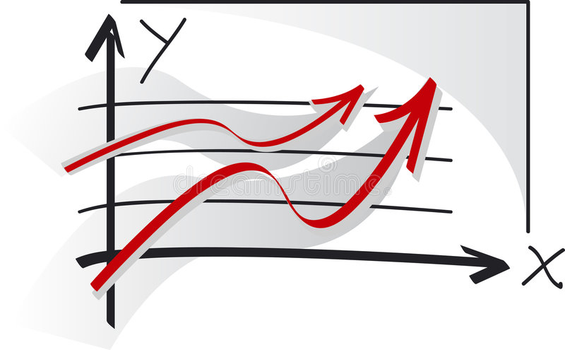 sukces wykresu ilustracji