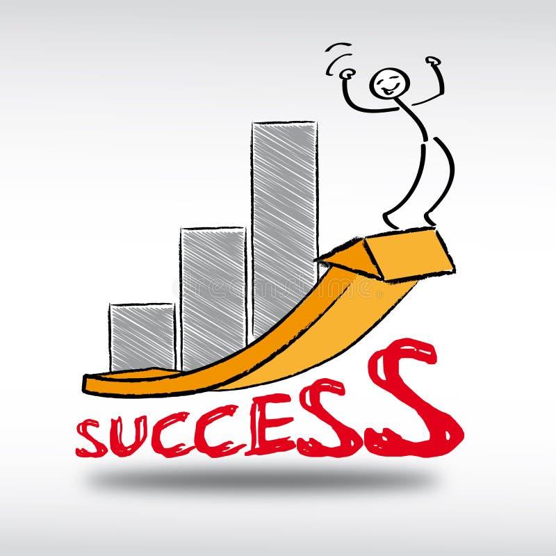 Sukces, zmiana, przyrost royalty ilustracja