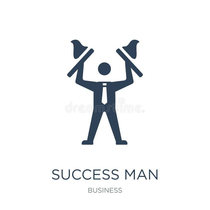 sukcesu mężczyzny ikona w modnym projekta stylu sukcesu mężczyzny ikona odizolowywająca na białym tle sukcesu mężczyzny wektorowa ilustracji