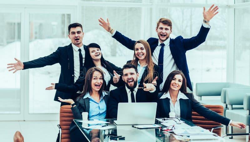 Sukcesu poj?cie w biznesie - fachowa biznes dru?yna jest d zdjęcie stock