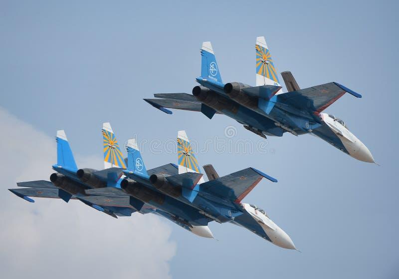 Sukhoi 27s images libres de droits