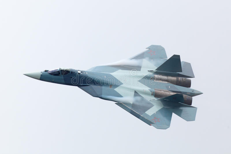 Download Sukhoi PAK FA T-50 editorial photography. Image of military - 33600447