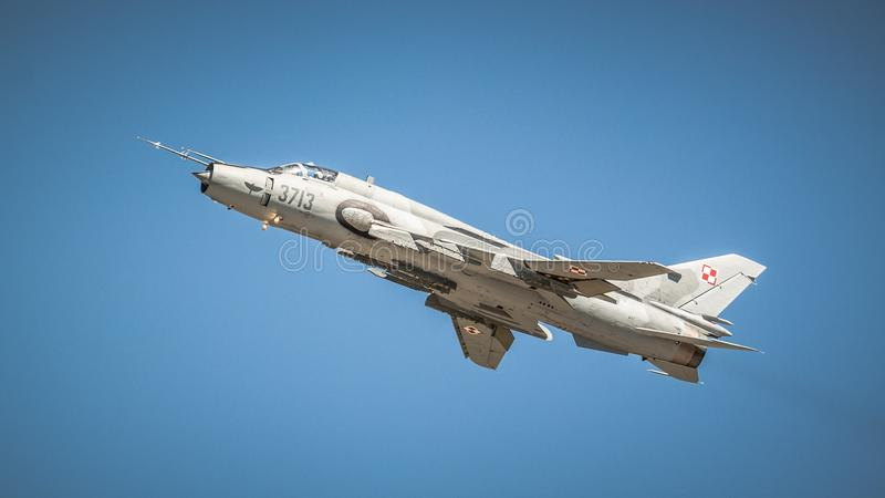 Sukhoi Su-22 - польская военновоздушная сила стоковые изображения rf