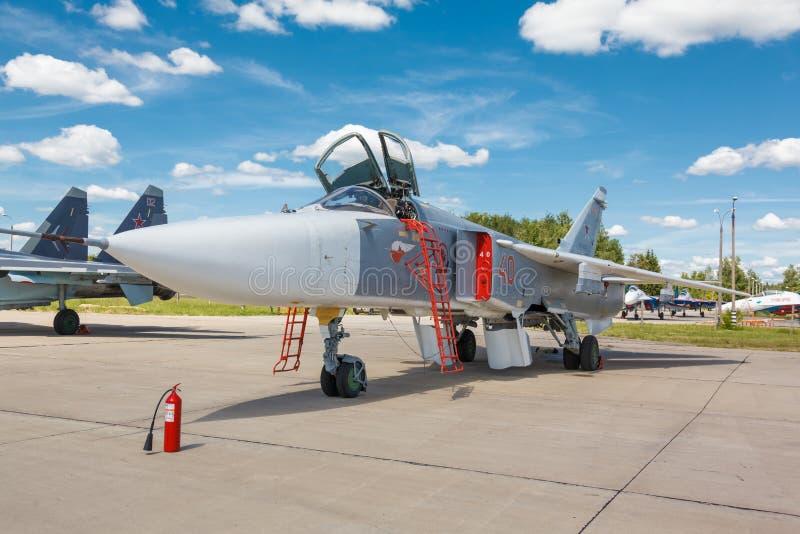Sukhoi Su-24 русский истребитель-бомбардировщик двойн-места стоковое фото