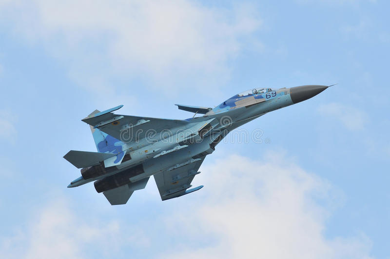Sukhoi su-27 royalty-vrije stock foto