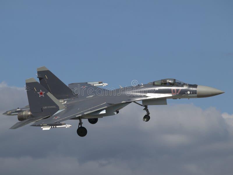 Download Sukhoi Su-35 in the air stock image. Image of e, su, 35 - 37841477