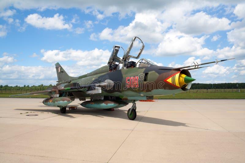 Sukhoi Su-22 royaltyfria foton