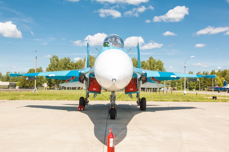 Sukhoi Su-27 (Flanker) русская multirole supermaneuverable истребительная авиация стоковое изображение