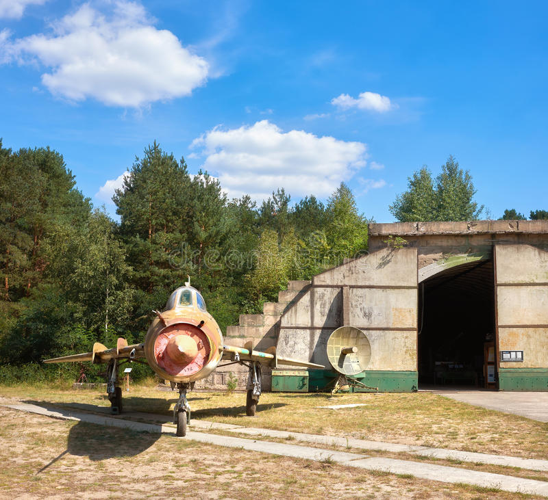 Sukhoi Su-17M4 Soviet fighter-bomber on an converted airfield stock photos
