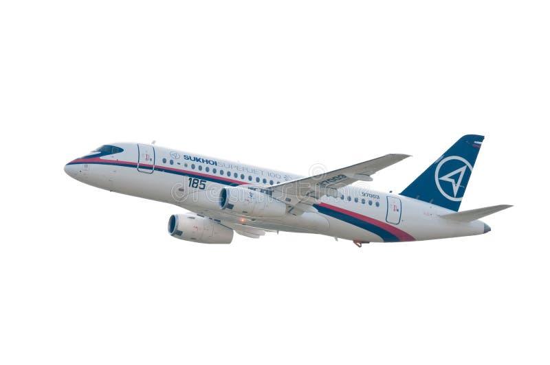 Sukhoi Superjet 100 fotografia de stock