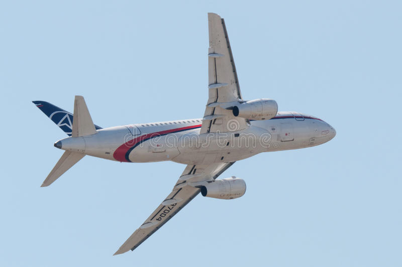 Sukhoi Superjet-100 fotos de stock royalty free