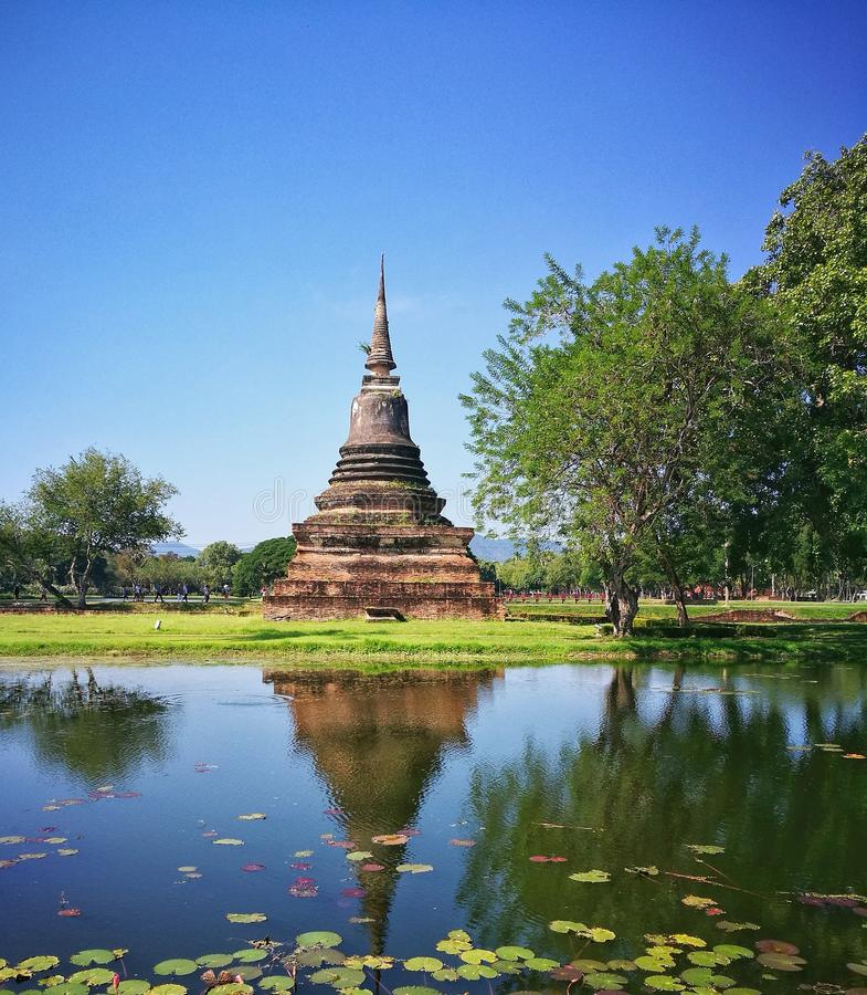 Sukhothai全国历史公园, Sukhothai,泰国 免版税库存图片
