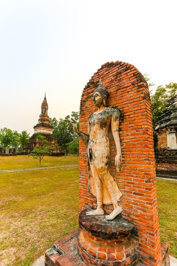 Sukhothai历史公园泰国的老镇 库存照片