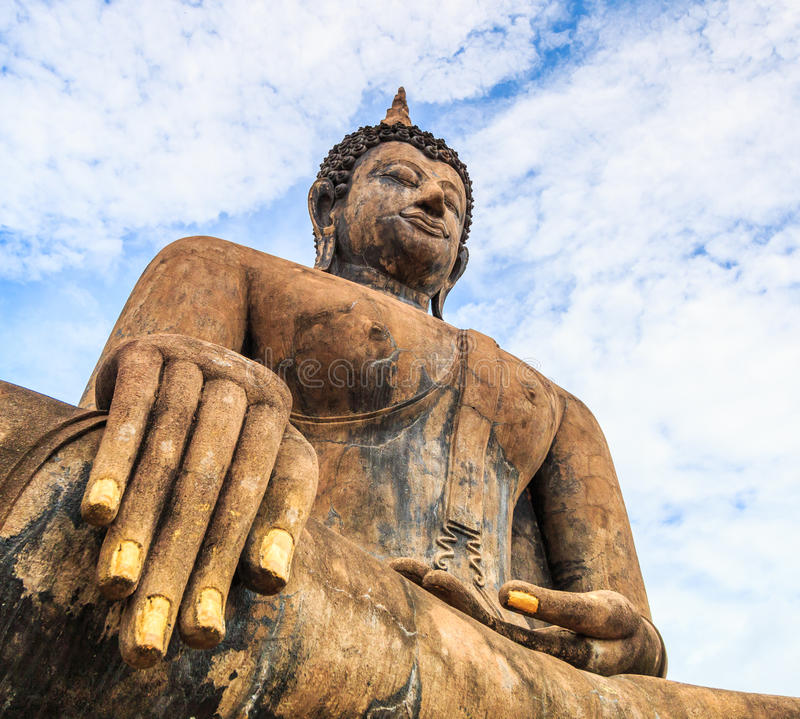 Sukhothai历史公园的,泰国大菩萨 库存照片
