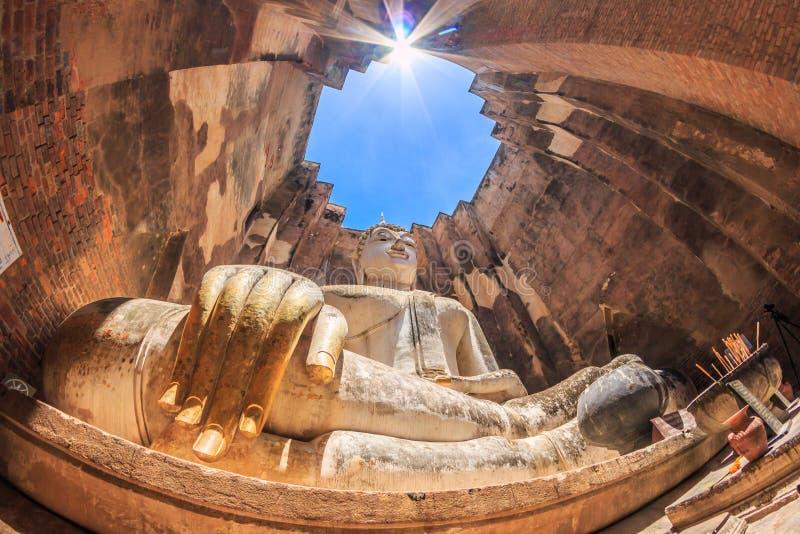 Sukhothai历史公园的,泰国大菩萨 免版税库存图片