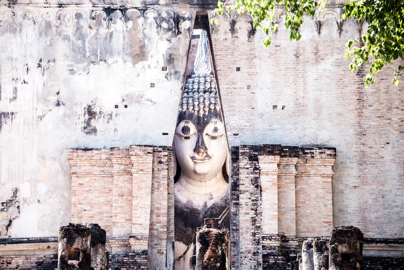 Sukhothai和联系的古镇, Wat Si古镇  库存图片