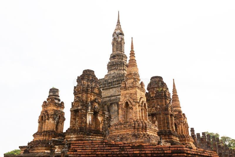 Sukhothai é um centro histórico, e a primeira capital de Sião fotografia de stock