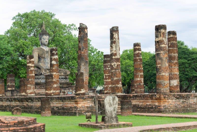 Sukhothai é uma cidade histórica Sukhothai Tailândia do patrimônio mundial do UNESCO do centro fotografia de stock royalty free