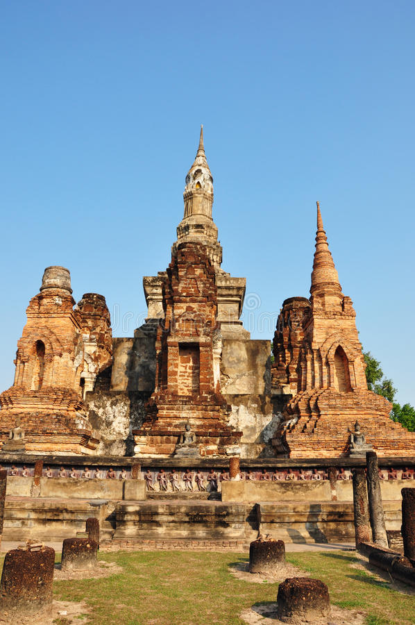 Sukhothai. The ancient castle at Sukhothai - Thailand stock photography