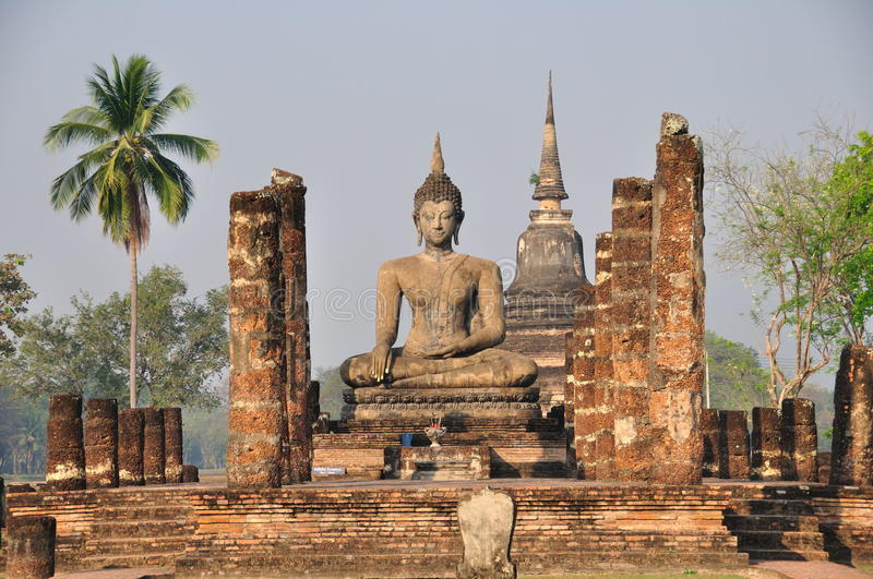 Sukhothai. The ancient city of Sukhothai. With a long history. And a World Heritage Site. Is an attractive place for tourists to visit stock photo