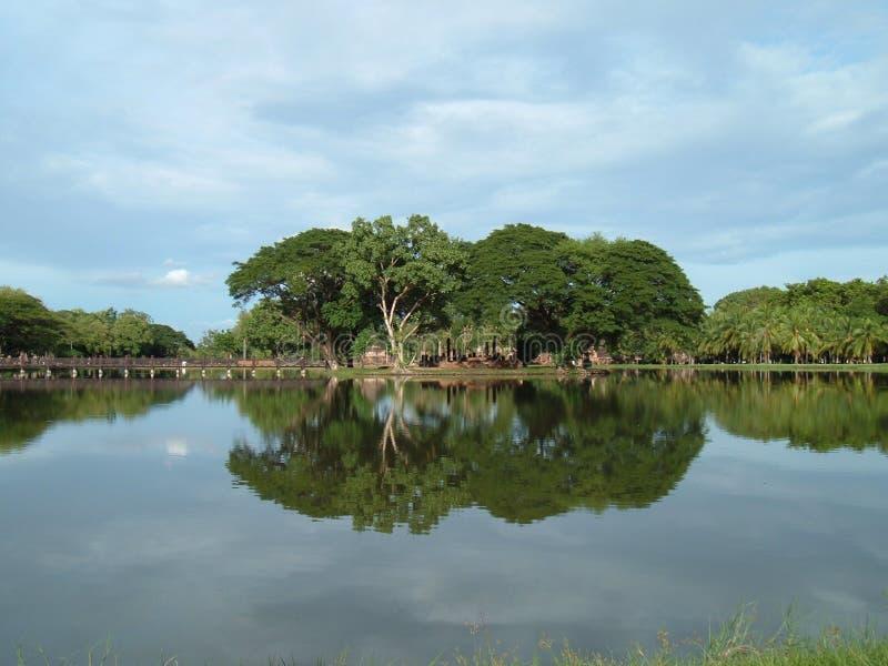 Sukhothai, de reis van Thailand stock afbeeldingen